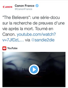 the believers, article, presse, média, canon,